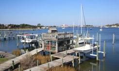 Dock side deck
